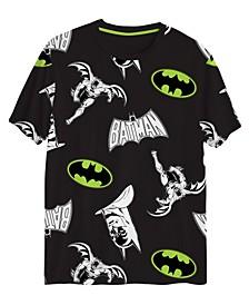 Big Boys Baman All Over Print Short Sleeve Graphic T-shirt