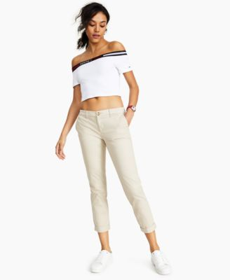 Cuffed Chino Straight-Leg Pants, Created for Macy's