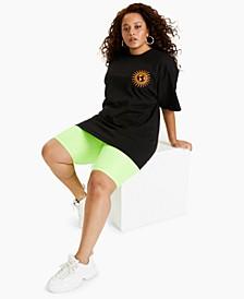Plus Trendy Cotton Earth Child Graphic T-Shirt