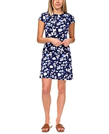 Ikat Poppy Flounce Dress, in Regular & Petites