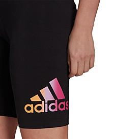 Women's Essentials Gradient-Logo Bike Shorts
