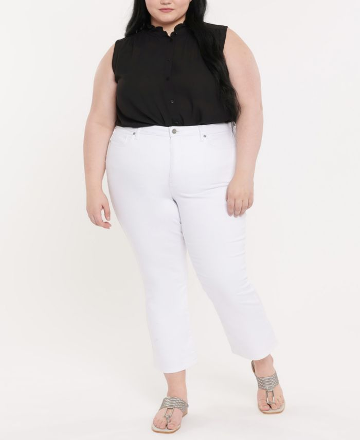 NYDJ Plus Size High Rise Slim Bootcut Ankle Jeans in Cool Embrace Denim & Reviews - Jeans - Plus Sizes - Macy's