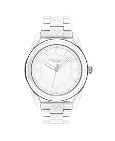 Women's Preston White Ceramic Bracelet Watch 38mm