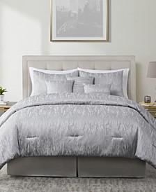 Reva 7 Piece Jacquard Full/Queen Comforter Set