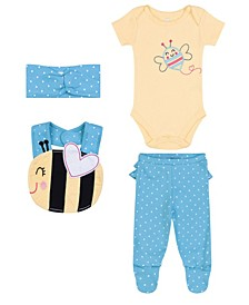 Baby Girls Bee Newborn, 4 Piece Set