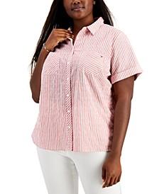 Plus Size Alexander Striped Camp Shirt