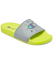 Big Girls IPO Circular Logo Slide Sandals from Finish Line