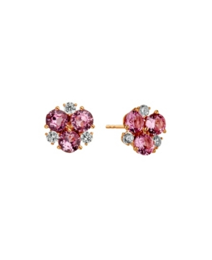 Rose Gold Plated Cluster Stud Earring
