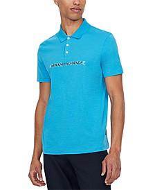 Men's Echo Logo-Print Piqué Polo Shirt