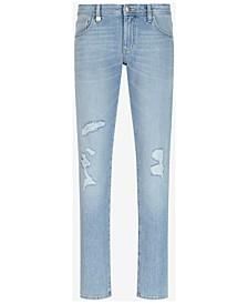 Men's Skinny-Fit Destroyed Jeans