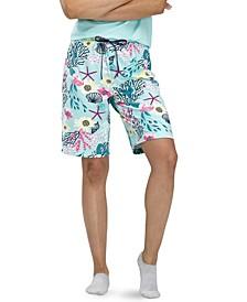 Women's Tropical Print Bermuda Pajama Shorts