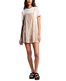 Juniors' Can't Be Tamed Striped Romper