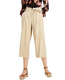 INC Frayed Zip-Front Culottes, Created for Macy's