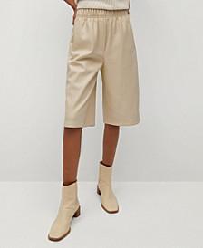 Leather Effect Bermuda Shorts