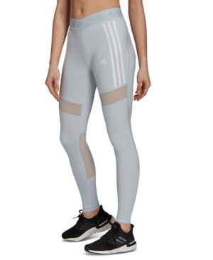adidas Women's Mesh-Trimmed Leggings