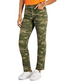 Camo-Print Straight-Leg Jeans, Created for Macy's