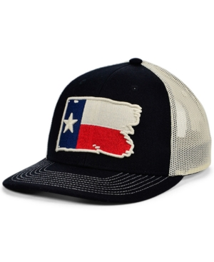 Local Crowns Texas Torn and Tattered Flag Curved Trucker Cap