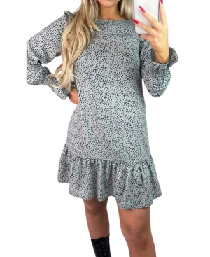 Spotted Frill Shift Dress