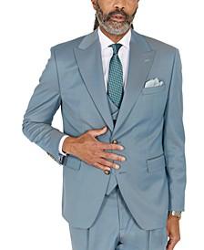 Men's Classic-Fit Solid Teal Suit Separates Jacket