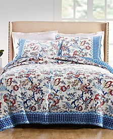Martha Stewart Americana Jacobean Quilt & Sham Collection, Created for Macy's