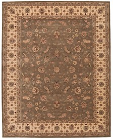 Wool and Silk 2000 2003 Olive Olive 8' Round Rug