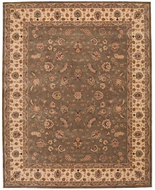 "Nourison Area Rug, Wool & Silk 2000 2003 Olive 7' 9"" x 9' 9"""
