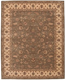 "Nourison Oval Area Rug, Wool & Silk 2000 2003 Olive 7'6""x9'6"""
