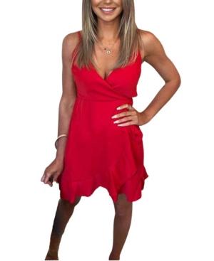 Strappy Frill Hem Mini Dress