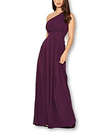 Women's One Shoulder Maxi Dress