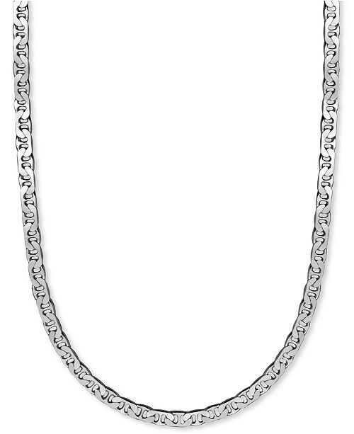 "Macy's  Men's Sterling Silver Necklace, 22"" 8mm Marina Chain"