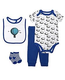 Baby Boys Hot Air Balloon Box Set, 4 Piece