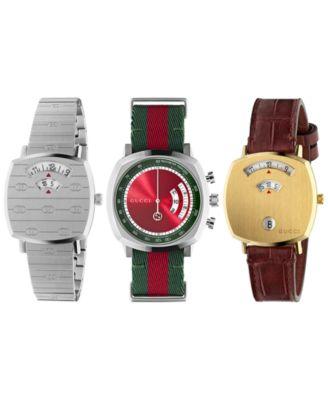 Men's Swiss Chronograph Grip Black Rubber Strap Watch 40mm