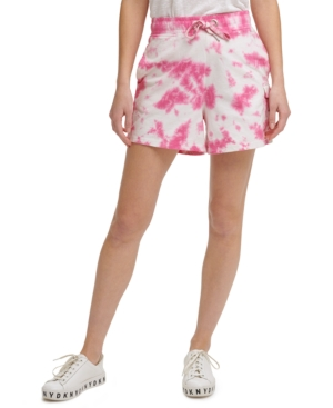 Cotton Tie-Dyed Pull-On Shorts