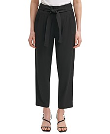 Tech Stretch Belted Ankle Pants