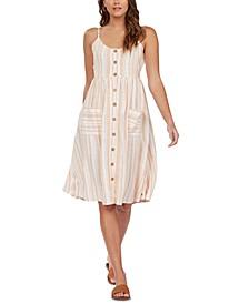 Juniors' Glowing Wave Striped Dress
