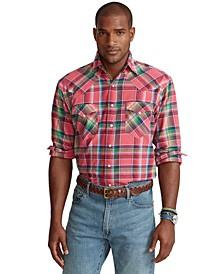 Men's Big & Tall Madras Western Shirt