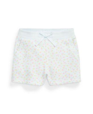 폴로 랄프로렌 Polo Ralph Lauren Big Girls Floral Fleece Shorts,Blue Multi