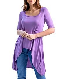 Women's Extra Long High Low Tunic Top
