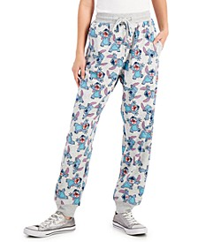 Juniors' Stitch Print Jogging Pants