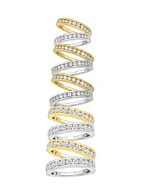 Certified Diamond Channel Band in 14K White Gold or Yellow Gold