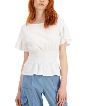 Smocked-Waist T-Shirt