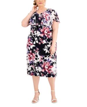 Plus Size Popover Midi Dress