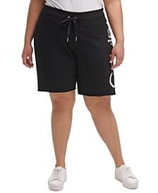 Plus Size Logo Bermuda Shorts