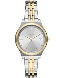 Women's Parsons Three-Hand Date Two-Tone Stainless Steel Bracelet Watch, 34mm
