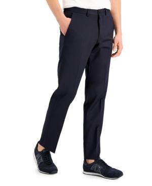 Armani Exchange Men's Slim-Fit Navy Solid Wool Suit Separate Pants