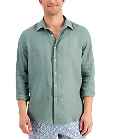 Men's Regular-Fit Solid Linen Shirt, Created for Macy's