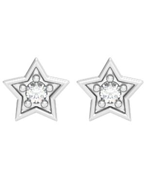 Diamond 1/20 ct. t.w. Star Stud Earring in Sterling Silver