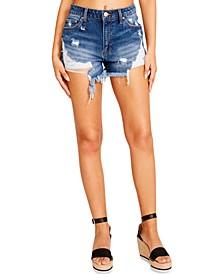 Juniors' Ripped Jean Shorts