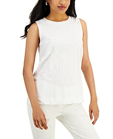 Petite Solid High-Neck Tank Top, Created for Macy's