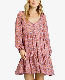 Printed Tiered Peasant Dress